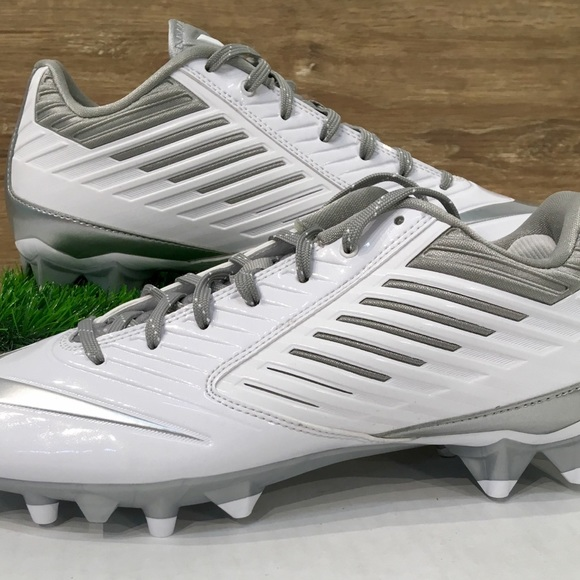 finest selection 688f9 102ad Nike Vapor Speed LAX Men s Cleat White Silver